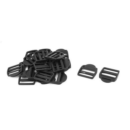 Shoulder Bag Adjustable Belt Ladder Lock Buckle Black 38mm Strap Width 20pcs