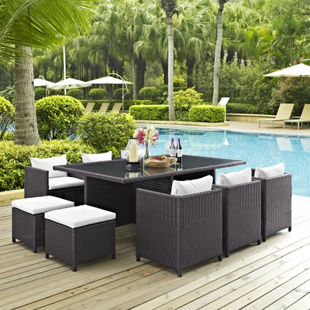 Image of Modway Reversal Outdoor Patio 11 Piece Dining Set, Multiple Colors