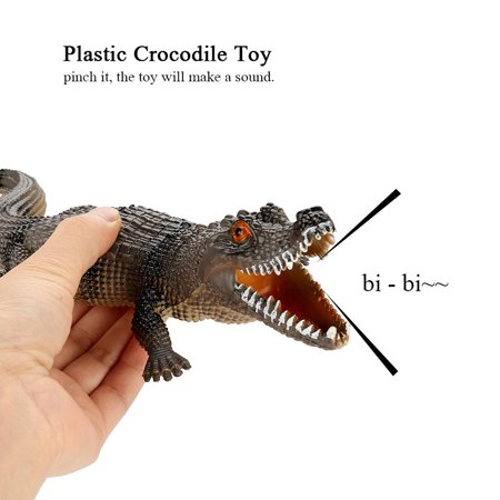 TOPINCN Simulation Soft Plastic Crocodile Model with Sound Anti-Stress Vent Toy Kids Educational Gift, Vent Toy, Kids Toy - image 4 of 8