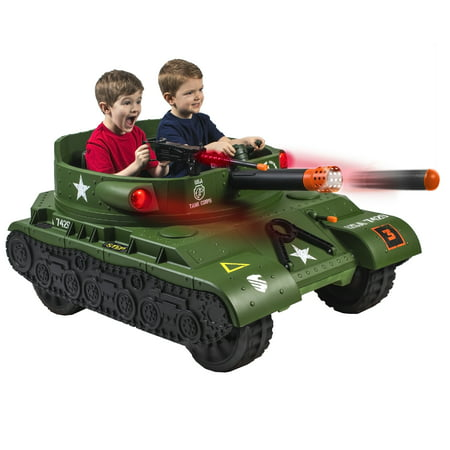 NEW WALMART EXCLUSIVE 24 Volt Thunder Tank Ride-On With Working Cannon and Rotating Turret!