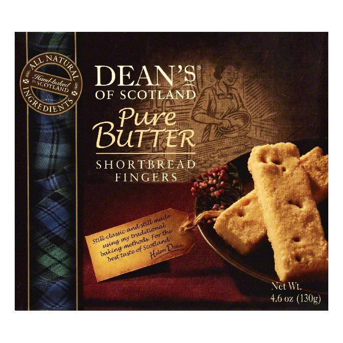 Deans Pure Butter Shortbread Fingers, 4.6 OZ (Pack of 10) by