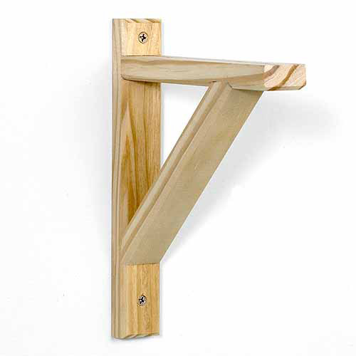 "Potomac 10.5"" x 9"" Wood Shelf Bracket, Unfinished ..."