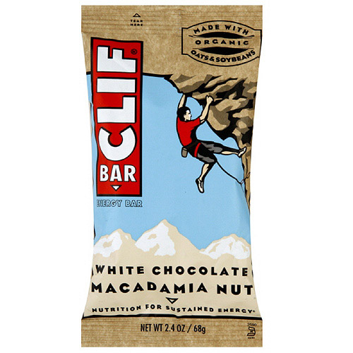 Clif Bar White Chocolate Macadamia Nut Energy Bars, 2.4 oz (Pack of 12)