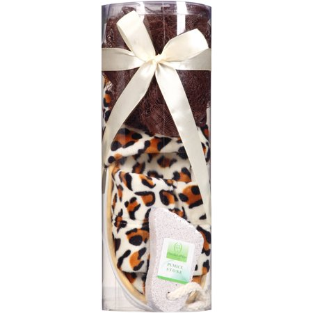 Essential Design Bath Gift Set Cheetah Print 3 Pc Deal Info