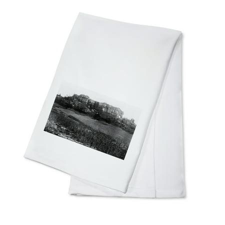 Palmer Lake, Colorado - Elephant Rock and Lake View Photograph (100% Cotton Kitchen Towel) ()