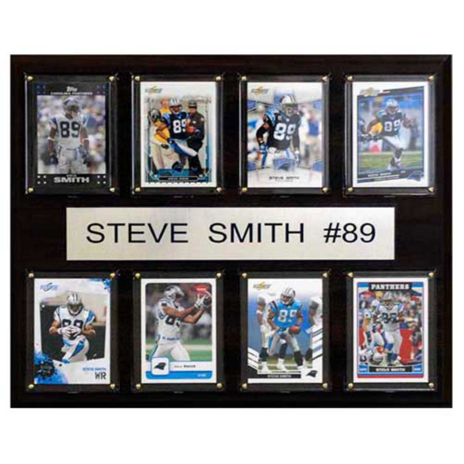 C and I Collectables NFL 15W x 12H in. Steve Smith Carolina Panthers 8 Card Plaque