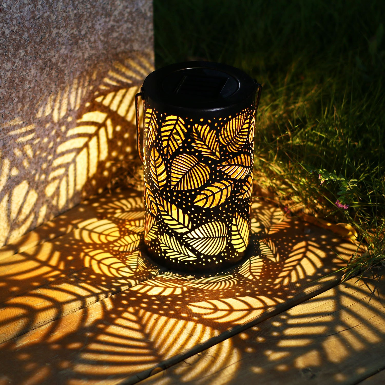Solar Lantern Lights Outdoor Garden Hanging Lights Metal