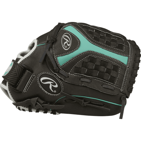 Rawlings Storm Softball Youth Glove, Regular, Funnel Web, 11-1/2-Inch