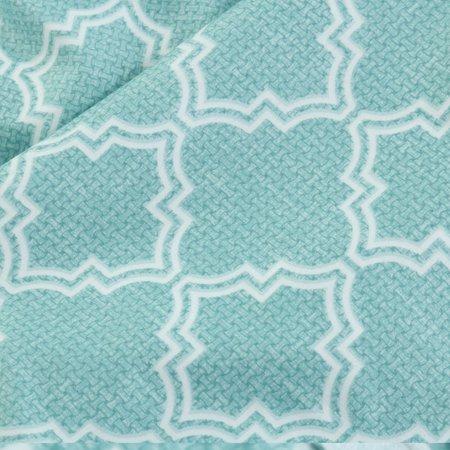 Brushed Velvet Lattice Pattern Bedding Set 2 Pillowcases Super King Green - image 7 of 8