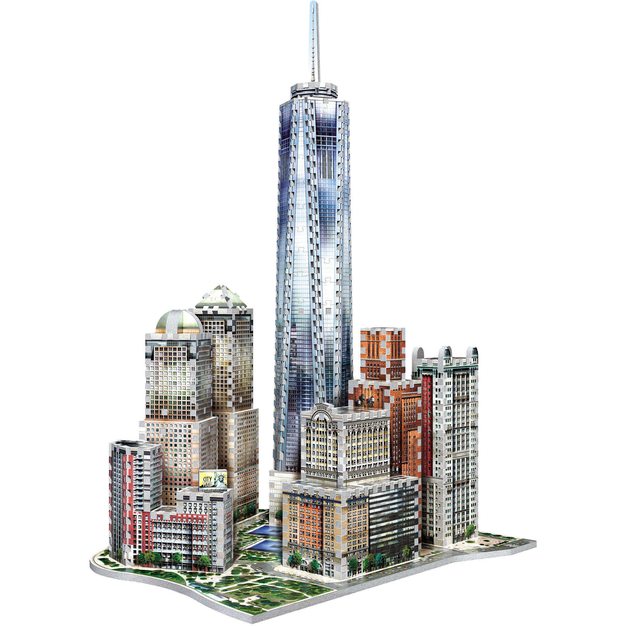 Wrebbit 3D New York World Trade 3D Puzzle, 875 Pieces by Wrebbit
