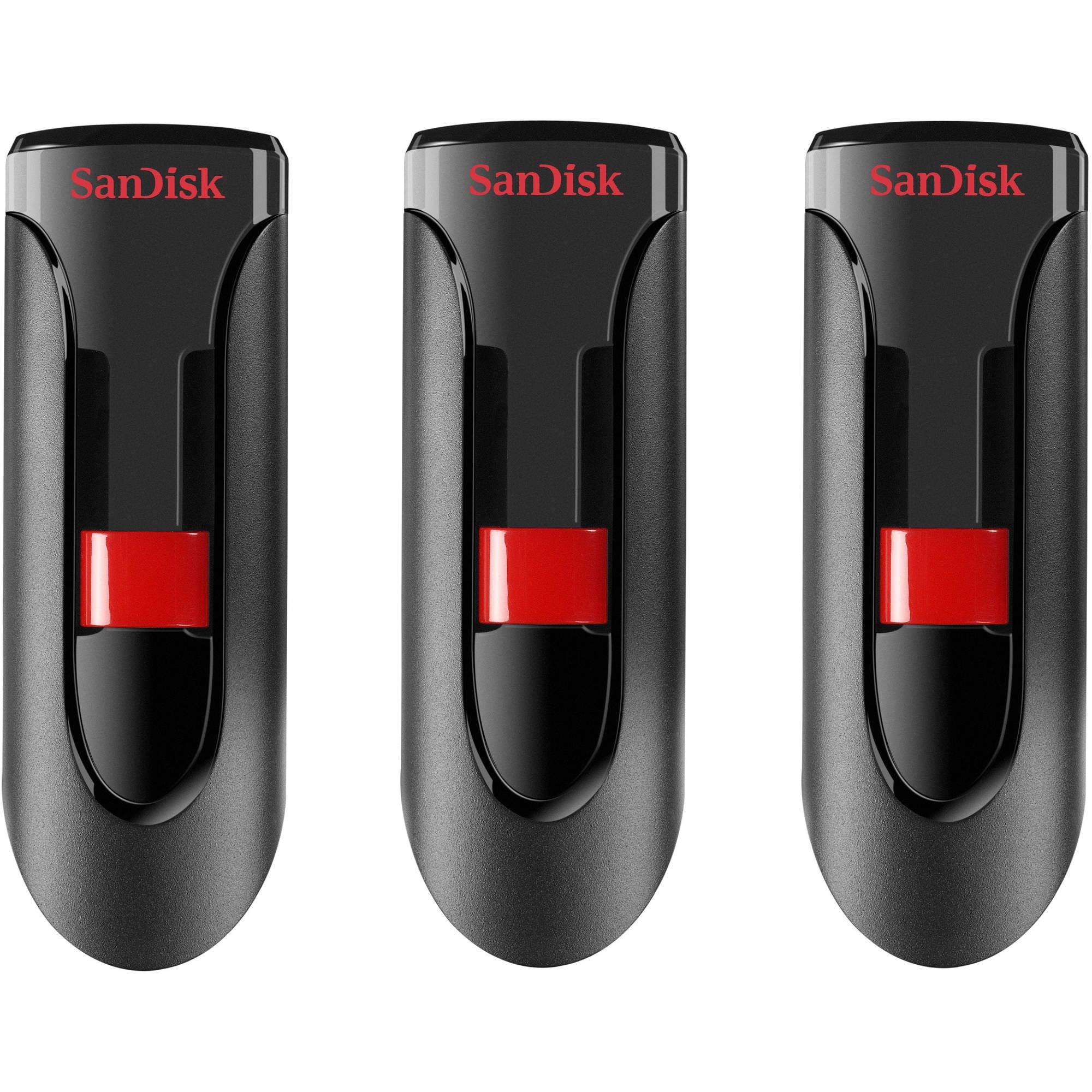 SanDisk Cruzer Glide 16GB USB 2.0 Flash Drive, 3-Pack