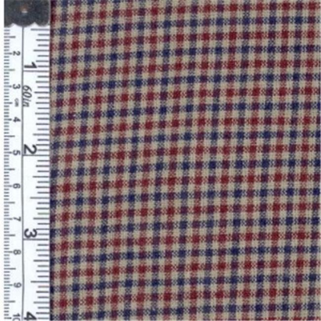 Textile Creations CC-319 Country Cupboard Fabric, Wine, Navy Check, 15 yd.