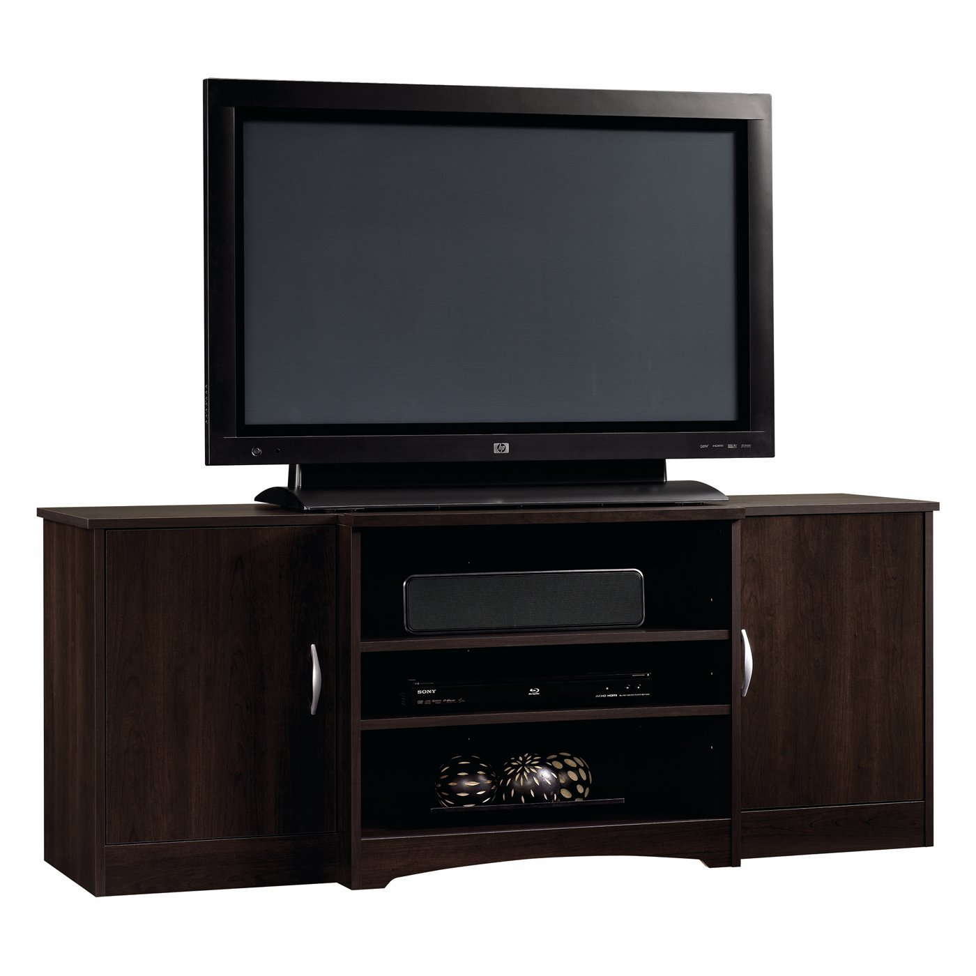 """Sauder Office Furniture Beginnings Cinnamon Cherry Entertainment Credenza for TVs up to 42"""""""