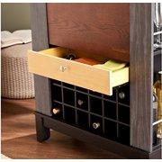 Liquor Storage Cabinet Wine Buffet Wooden Pub Espresso