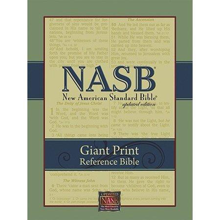 Giant Print Reference Bible-NASB - Nab Giant Print