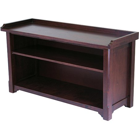 Winsome Wood Milan Storage Hall Bench, Walnut