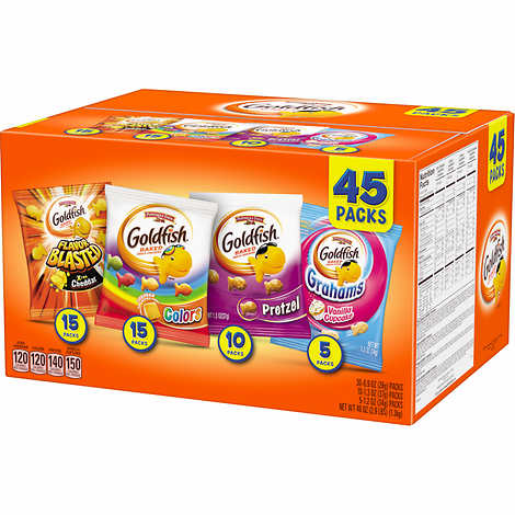 Pepperidge Farm Goldfish Baked Snack Crackers, Variety Pack, 45-count