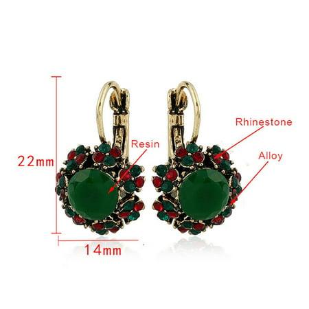 Colorful Crystal Stud Earrings Resin Dangle Earrings Personality Stud Earrings - image 4 of 5