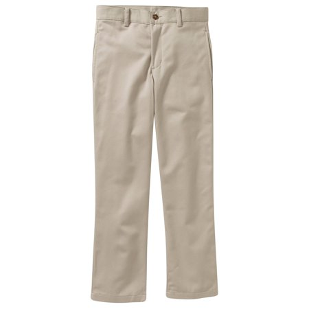 836649121 George - Boys Reg Husky Flat Front Twill Pant With Scotchguard ...