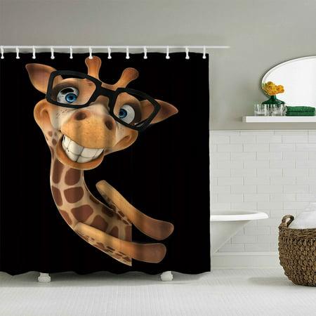 Mosunx Digital Print Waterproof And Mildewproof Shower Curtain Size 180180 CM