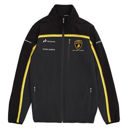 Automobili Lamborghini Gold 2019 Men's Black Softshell Jacket