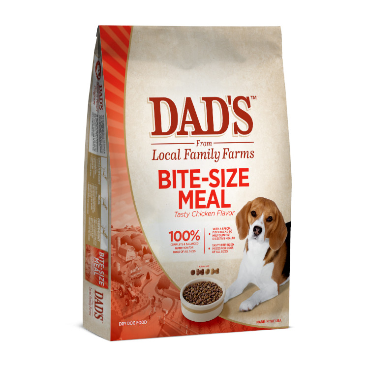 DAD'S Bite Size Meal Dry Dog Food, 17.6 lbs