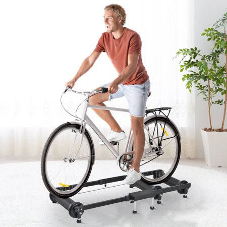 Indoor Cycling Roller Bike Trainer - Black