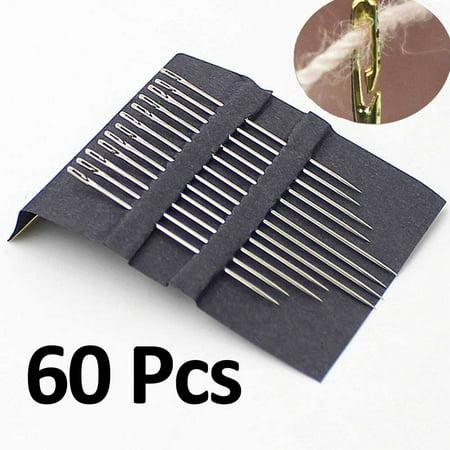 60 Pcs Threadneedle Assorted All Purpose Self Threading Needles FREE Eyeglass Pouch by Juniper's (Eyeglass World Coupon)
