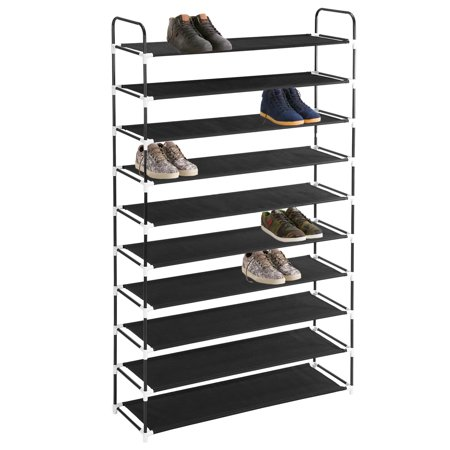 Ktaxon Shoe Rack 50 Pairs Tower Organizer Cabinet Storage Black / Gray (93 Manual Rack)