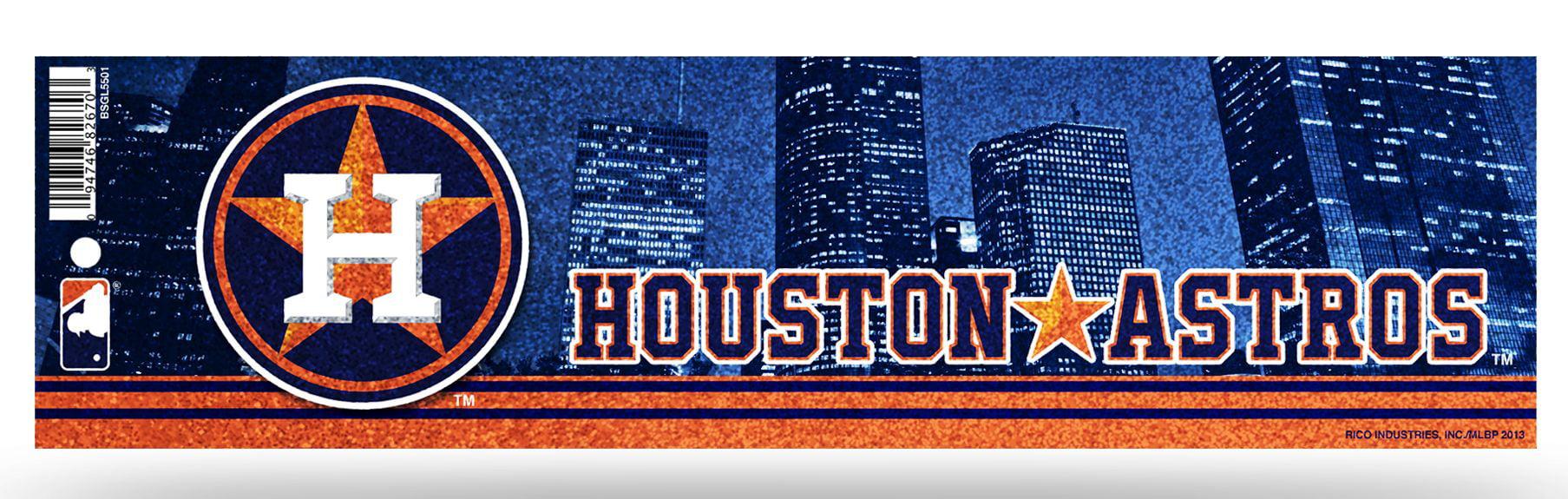 Houston astros bumper sticker glitter