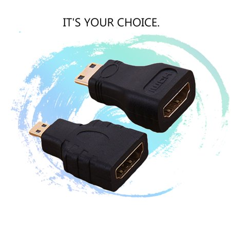 Micro HDMI+HDMI to Mini Gold Plated Converter HD Connector Extension Adapter - image 6 of 10