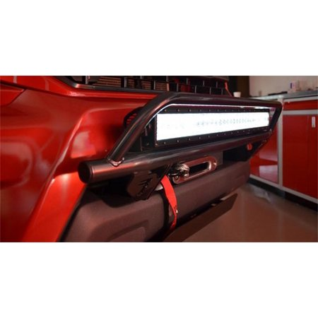 N-Fab T1230ORL Off-Road Light Bar Multi-Mount System; Gloss Black; w/License Plate Tabs; Mounts Up To A 30 in. LED Light; - Light Up Bar