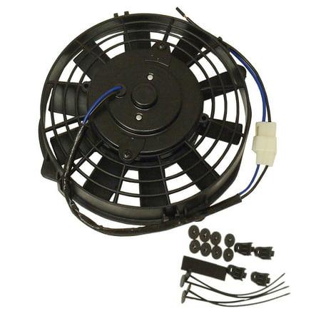 8 Straight Electric Radiator Fan Push Pull Engine Bay Slim Cooling Kit Gm