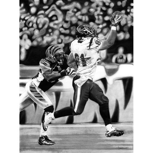 "Deacon Jones Foundation Cincinnati Bengals vs. Houston Texans 24"" x 36"" Texas Hold 'Em Dueling Giclee on Canvas"