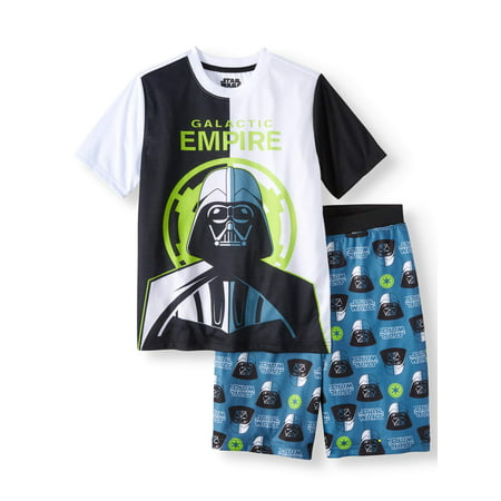 Boys' Star Wars 2 Piece Pajama Sleep Set (Little Boy & Big Boy)](Glow In The Dark Skeleton Pajamas Boys)