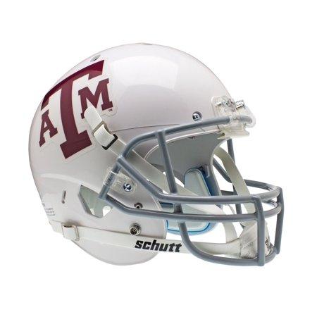 Texas A&M Aggies Schutt XP Full Size Replica Helmet - White Gray Alternate 2