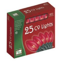 Noma/Inliten-Import 925R-88 Christmas Lights Set, Clear Red, 25-Ct.