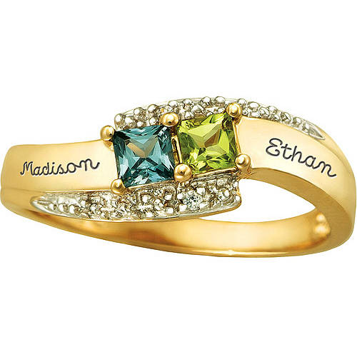 Keepsake Personalized Tranquility Promise Ring with Birthstones