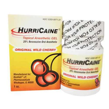 Topical Anesthetic Gel (HurriCaine Topical Anesthetic Gel, Wild Cherry,)