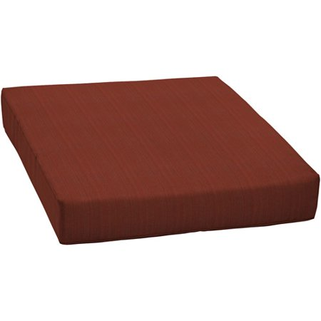Better homes and gardens outdoor deep seat seat cushion red stria for Better homes and gardens deep seat cushion