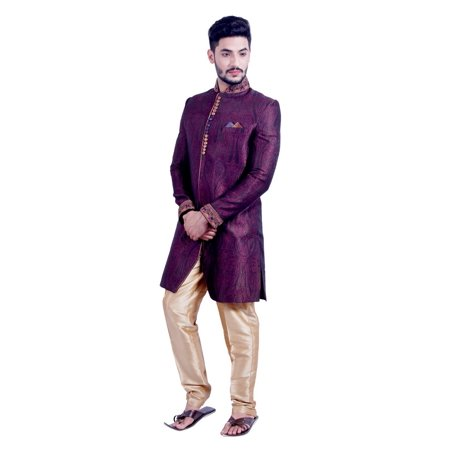 Multi Colored Indian Festivels Indo-Western Sherwani for Men. This product is custom made to order. - image 3 of 6