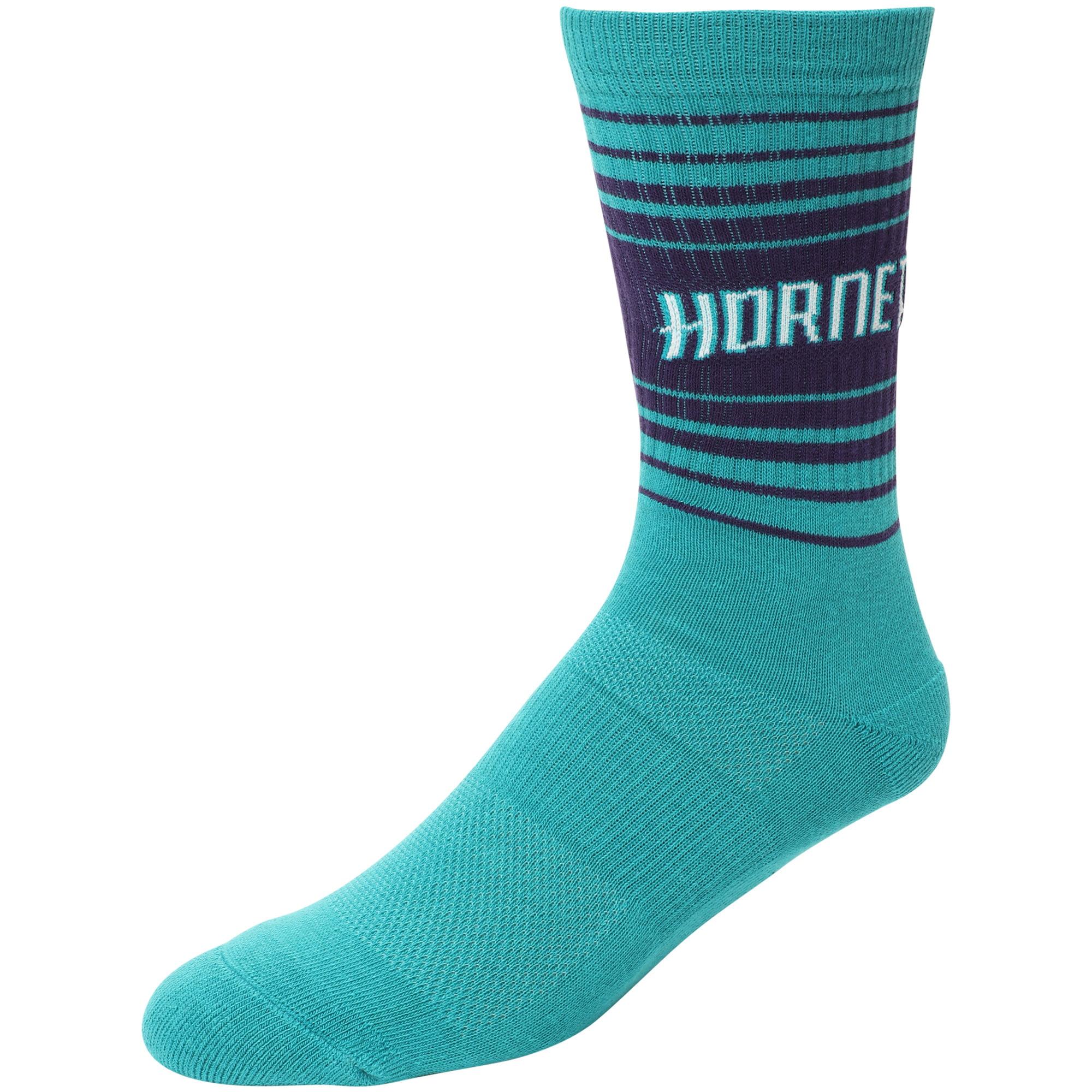 Charlotte Hornets Horizon Crew Socks - L