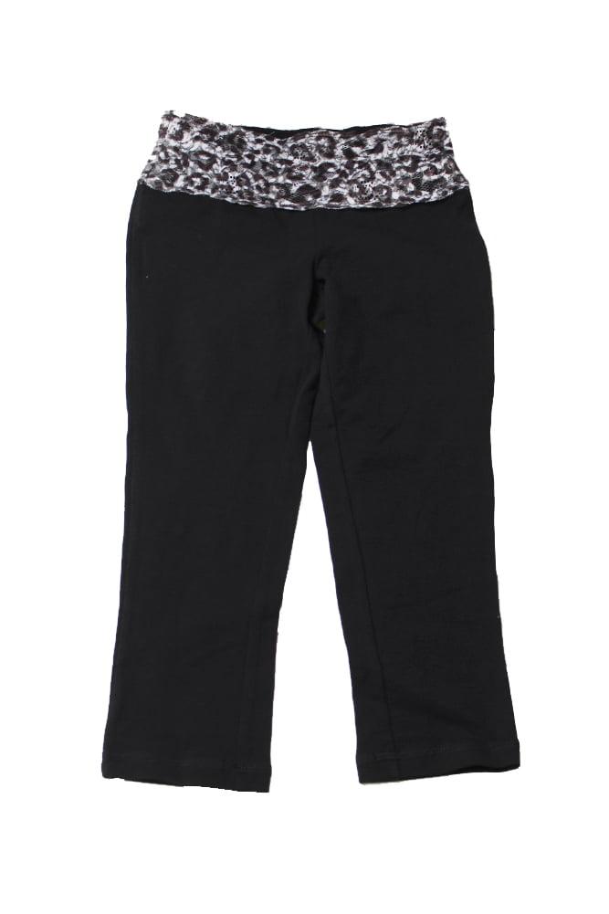 Material Girl Juniors Black Lace-Band Cropped Leggings XXS