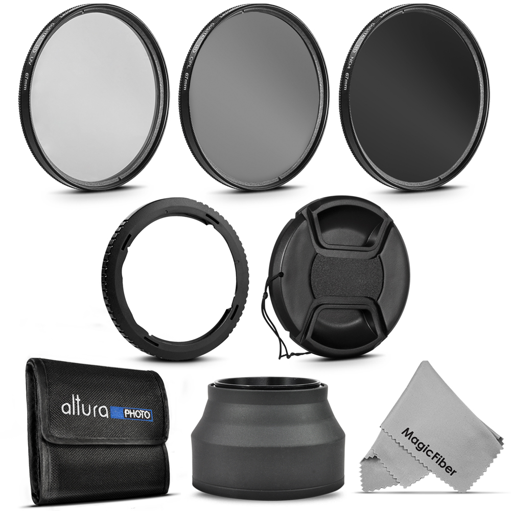 Essential Accessory Kit for CANON PowerShot SX60 HS and SX530 HS ��� Includes: 67mm Altura Photo Filter Kit (UV-CPL-ND4) + Carrying Pouch + Collapsible Rubber Lens Hood + Center Pinch Lens Cap