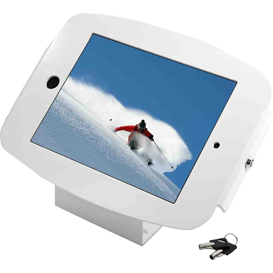 "MacLocks Introducing ""Space"" Mini - iPad Mini Enclosure Kiosk - White - White"
