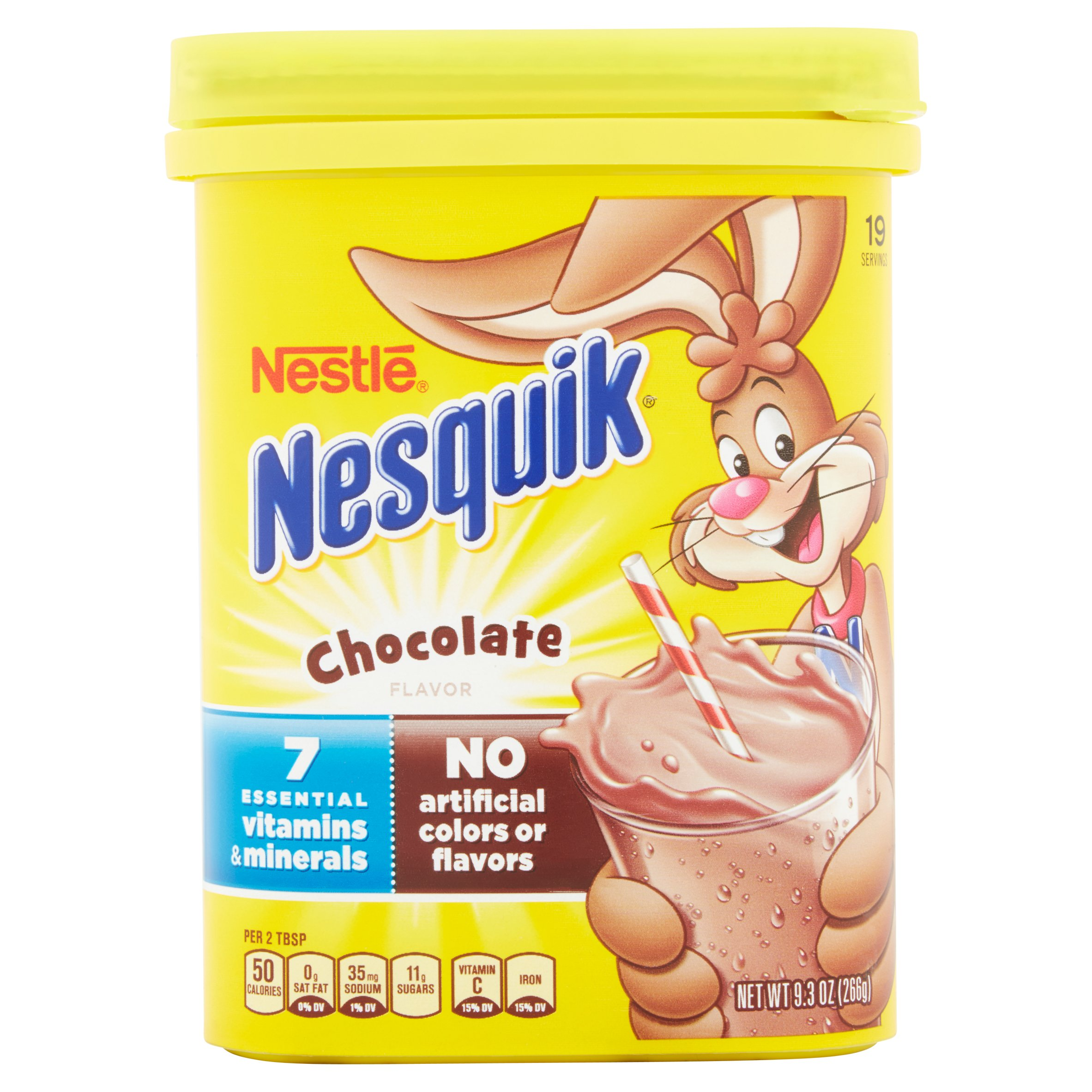 NESTLE NESQUIK Chocolate Flavored Powder 9.3 oz. Canister