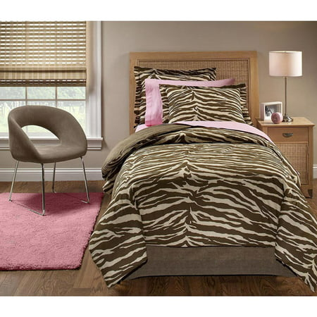In Style Wild Zebra Bed In A Bag Bedding Set Walmart Com