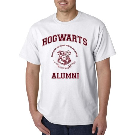 129 - Unisex T-Shirt Hogwarts Alumni Medium White](Hogwarts Tie)