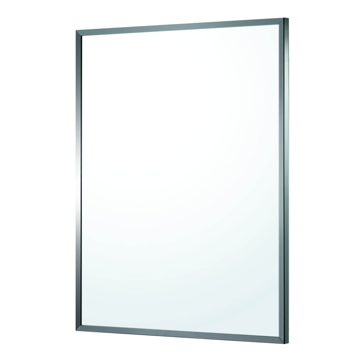 "Bathroom Mirror Polished Stainless Steel Framed 32"" x 24"" 