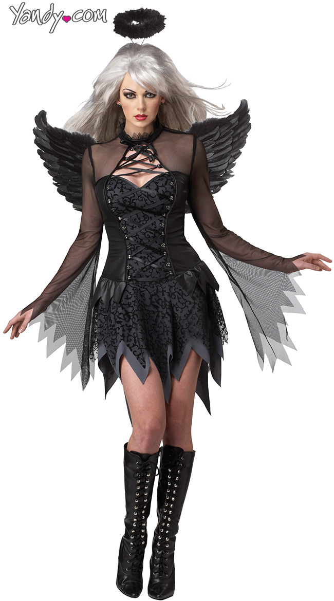 Dreamgirl Womens Luxurious Angel of Darkness